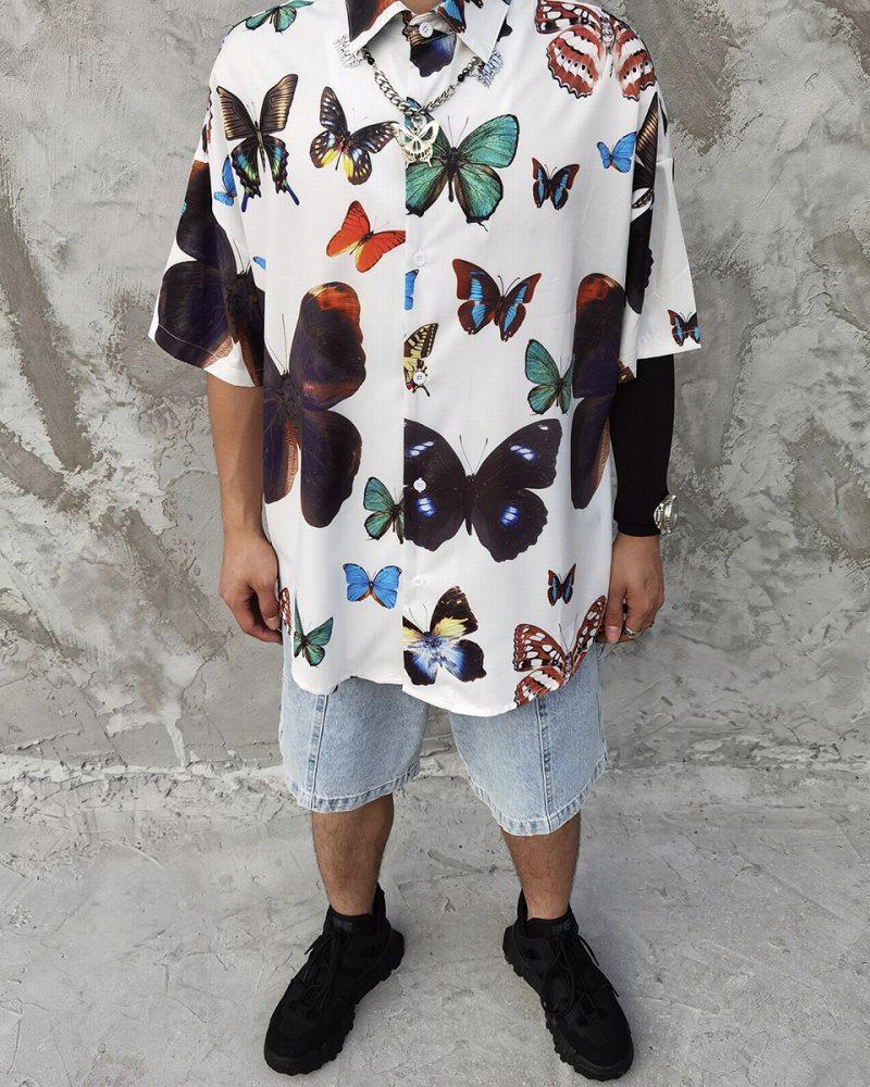 オーバーサイズバタフライ半袖シャツの画像4